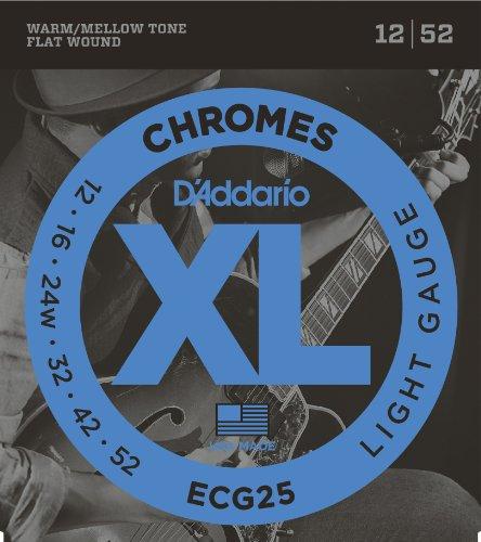 D'Addario ダダリオ エレキギター弦 フラットワウンド Light .012-.052 ECG25 【国内正規品】