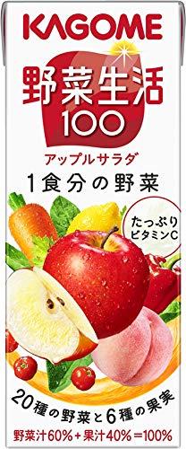 野菜生活100 アップルサラダ 紙パック 200ml ×24本