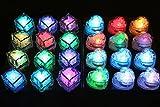 ビューティーライフ【Beauty Life®】光る氷 LED キューブ アイス ライト センサー 感知型 ハート型 12個 キューブ型12個 お得な豪華24個セットです (MIX24個セット)