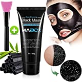 Blackhead Remover Mask with Brush, Deep Cleansing Peel-Off Black Mask Purifying Peel Off Black Face Mask, 60 G