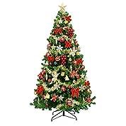 クリスマスツリー 240cm セット レッドゴールド セットツリー 企業 業務用 にも [ 豪華 オーナメント付き ]