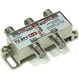Lumen アンテナ4分配器 [ 地上波デジタル/BSデジタル/110°CSデジタル/CATV 放送対応 ] 全端子通電 TV-SP4