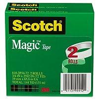 Scotchマジックテープ、3/ 4インチx 2592インチ、3インチコア、2/ Pack