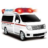 ・【エルグランド救急車】正規ライセンス緊急車両 ラジコンカー 日産 NISSAN エルグランド リモコン ラジコン 1/24 フルファンクション...