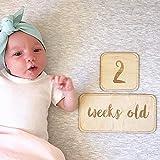 ベビーマンスリーカード 15枚セット 月齢撮影 写真撮影 撮影小物 記念日 出産祝い 赤ちゃん 成長記録 内祝い プレゼント (1-12数字+Week+Month+Year)