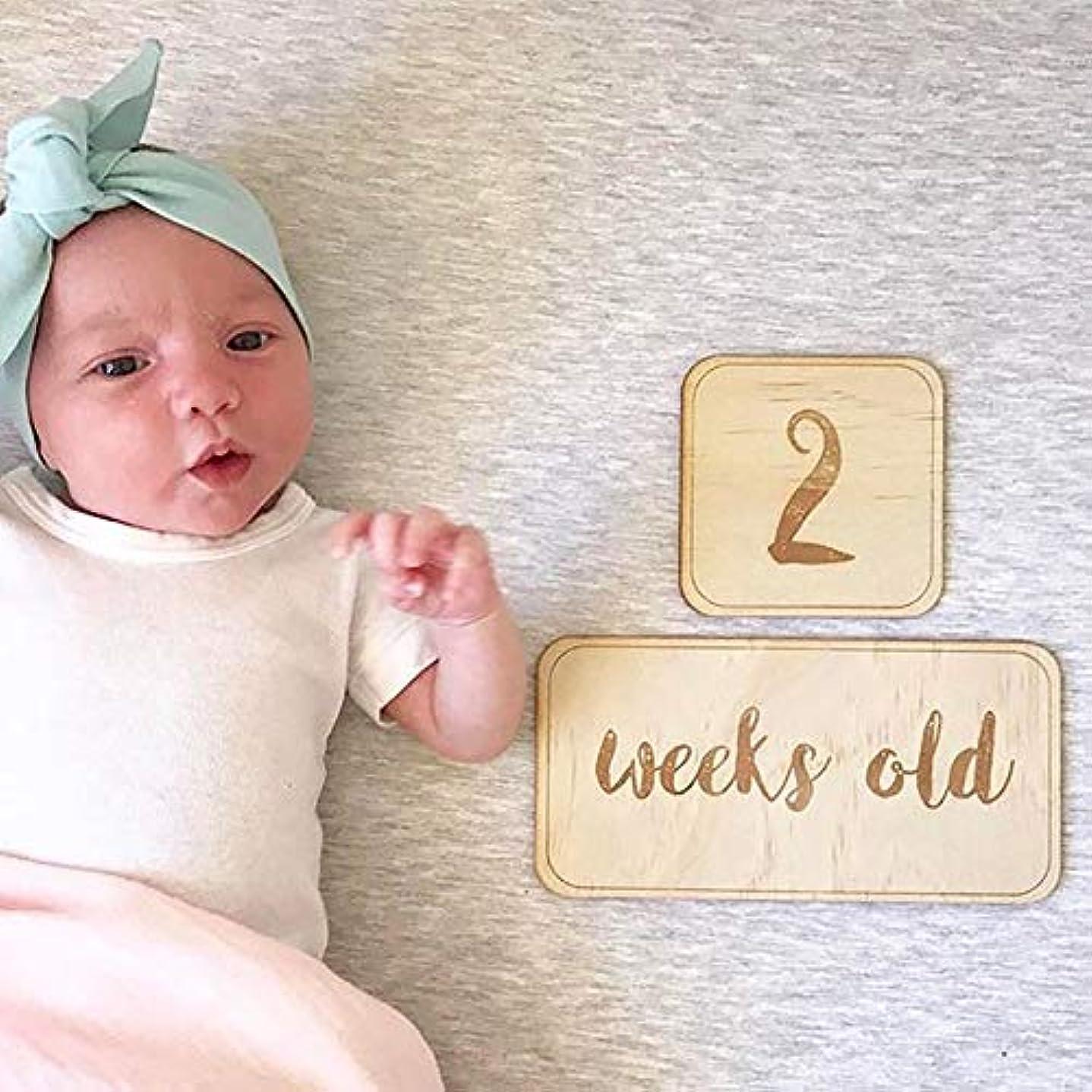 狂気内なるアクセスできないベビーマンスリーカード 15枚セット 月齢撮影 写真撮影 撮影小物 記念日 出産祝い 赤ちゃん 成長記録 内祝い プレゼント (1-12数字+Months old)