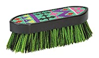 (Small, Aztec Green) - Weaver Leather Bling Face Brush, Purple/Pink/Blue