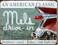 ブリキ看板 Mels Drive-IN AN AMERICAN CLASSIC