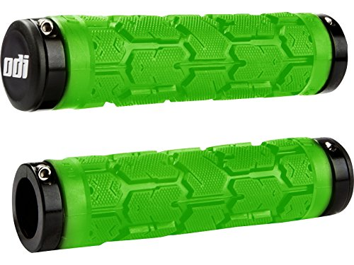 ODI Rogue Lock-On Grips w/Clamps Lime Green/Black 115mm