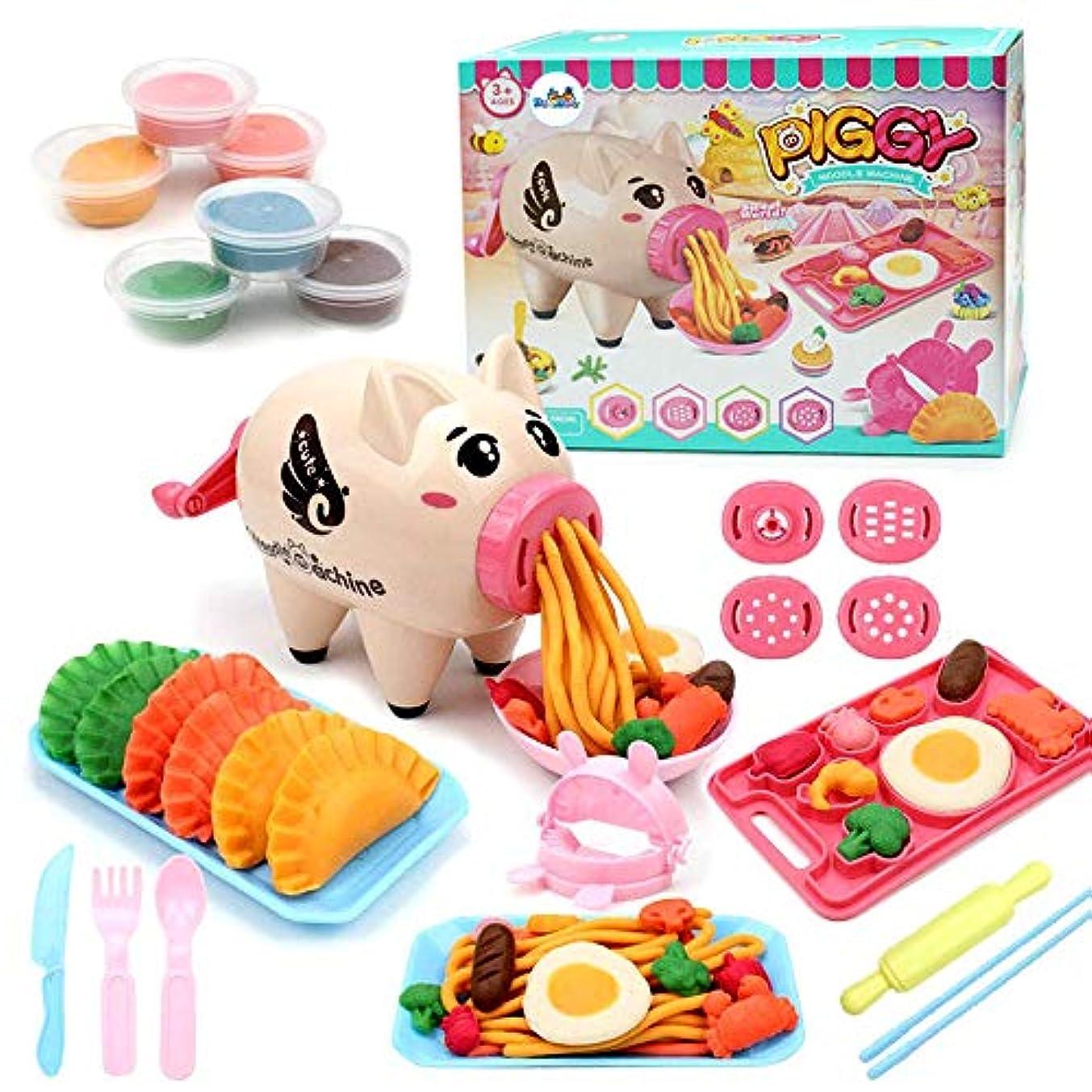 Deardeer 粘土遊びセット 非毒性 おままごとセット ヌードルマシン 楽しいキッチンおもちゃ 子供用 21個