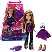MGA Entertainment Bratz Passion 4 Fashion Series 25cm Doll - YASMIN with 2 Sets of Purple Theme Outfits, 2 Pair of Shoes, Earrings, Bangles and Hairbrush