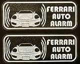 フェラーリ 360 モデナ セキュリティ ステッカー fe009wos - 580 円