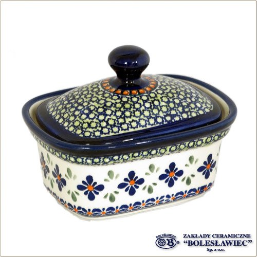 [Zaklady Ceramiczne Boleslawiec/ザクワディ ボレスワヴィエツ陶器]バターディッシュ(Sサイズ)-du60