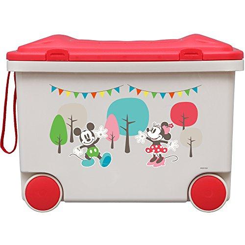 アイリスオーヤマ おもちゃ箱 キッズ トイカート ディズニー ミッキー&ミニー 幅45×奥行33.5×高さ33.3cm NKTC-450