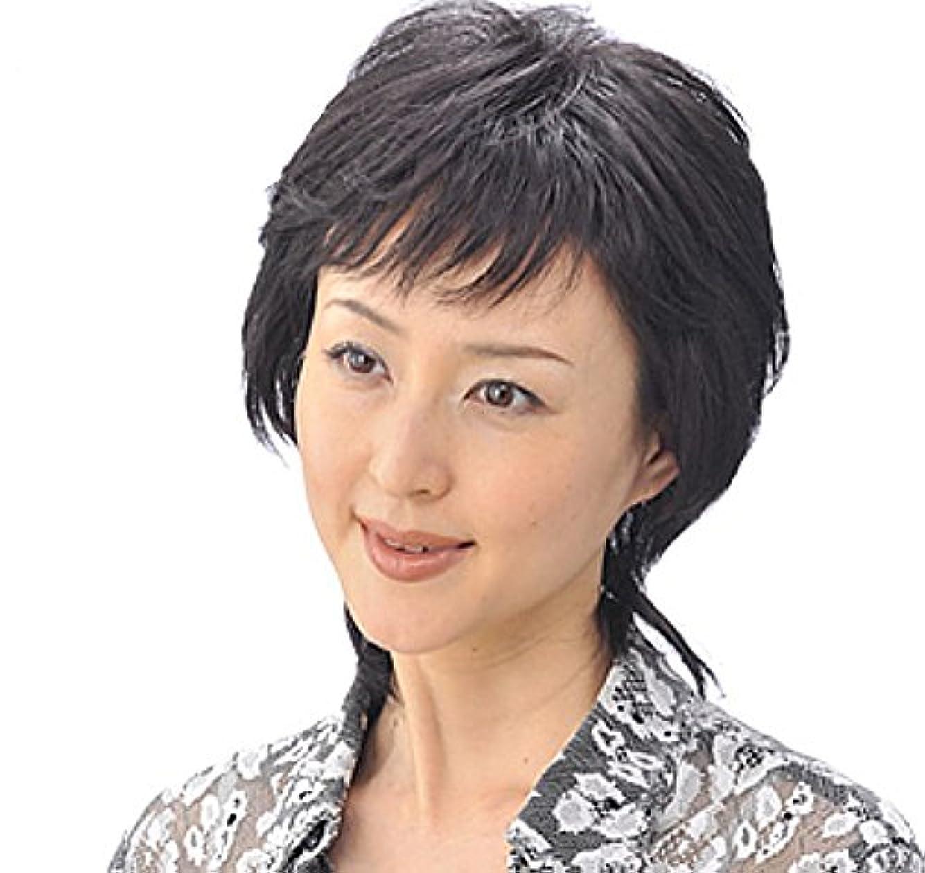 タイムリーなタクト首相人毛100% ヘアモアピースHM-10 (白髪60%)
