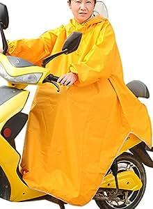 haruju レインコート レインポンチョ ロングポンチョ バイク 自転車 車いす (イエロー)