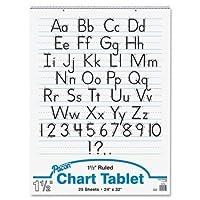 "Wholesale CASE of 12–PaconルールドManuscriptチャートtablets-chartタブレット、Manuscript Cvr、1–1/ 2""ルールド、24"" x32インチ、25sh、12/ CT"