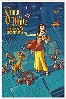 ポスター ジェームス フレームス Mondo Snow White 白雪姫 Cyclops Print 限定305枚 手書きナンバリング入り 額装品 アルミ製ハイグレードフレーム(ホワイト)