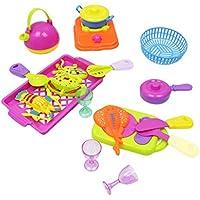 P Prettyia 子供 ままごと 食器 調理器具 シーフード おもちゃ 幼稚園 家庭 教育道具 ギフト 18個