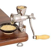 CGOLDENWALL 手回し穀物ミル 製粉機手動 粉ひき家庭用 小型卓上型 米、小麦、大豆、コショウ、ゴマ、粗塩、ピーナッツ、トウモロコシ、小豆、大豆、キビなどに