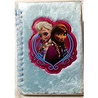 Disney Frozen Anna & Elsa Furry Journal with pen by Disney [並行輸入品]