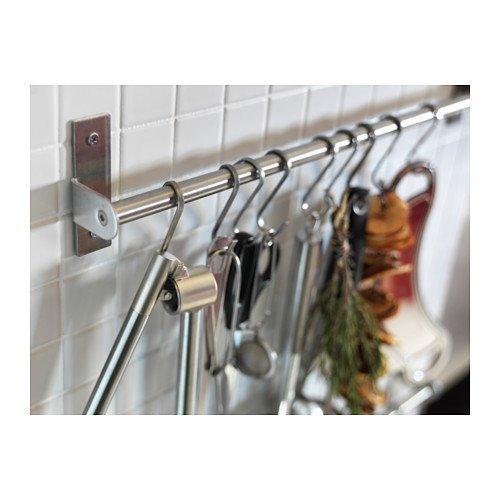 RoomClip商品情報 - IKEAキッチンレールステンレスバー装飾Organizer (2パック) 15.75インチ