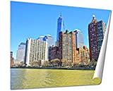 Ashley Gicleeビューからフェリーon Battery Park City In New York Harbor Lower Manhattan USA 24 inches by 30 inches 5483005-AG-GP1-2430