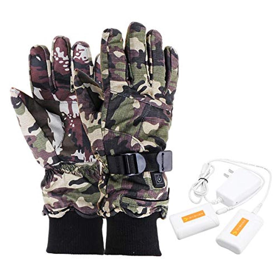 ほぼ楽観的断線Ungfu Mall 電気 オートバイ 手袋 ヒーター 指 手 暖かい 充電式