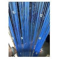 LIQICAI ドアストリングカーテン 結晶 ビーズカーテン フリンジカーテン タッセルスクリーン 間仕切り 出入り口用 窓パネル 室内装飾 (Color : Blue, Size : B 80x200cm)