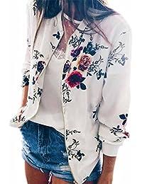Karchi レディース ファッション  秋 ジャーパー トレーラー プリントフラワー クデイリーおしゃれ 前開け かジュアル 上衣