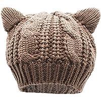 Bellady Women's Hat Cat Ear Crochet Braided Knit Caps