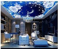 3d壁紙、壁画、天井、シルク布ファンタジーStarry Moonリビングルームゼニス天井天井、ayzr asg513ag1531531