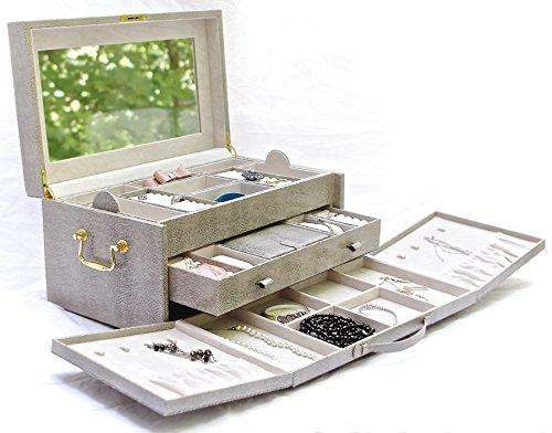 Vegan Leather Jewelry Box Organizer by Case Elegance …