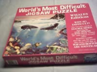 World's Most Difficult Jigsaw Puzzle , Whales Edition , 529 pc by Buffalo Games