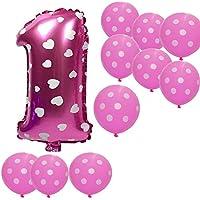 バースデー バルーンセット アルミバルーン 風船 誕生日 パーティ お祝い 記念日 飾り 部屋 デコレーション 装飾 1歳バルーン女の子対応