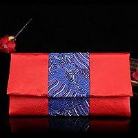 ACHICOO ウェディング用品 赤い レトロ 波線 刺繍 レッド 中国風 結婚式 ラッキーマネー封筒 レッド封筒 レッドパケット 青