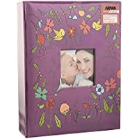 (PURPLE BIRD) - Photo album for 10cm x 15cm Photo with Window Fashion Design 200 Holds (PURPLE BIRD)