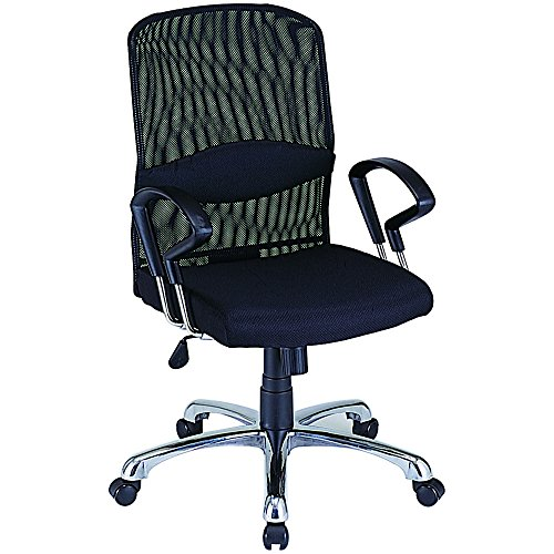 ナカバヤシ ネットチェア ミドルバック オフィスチェア 椅子 ブラック RZS-101BK