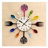 可愛らしいデザインの壁掛け時計 デザインウォールクロック キッチン♪
