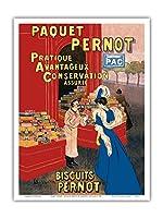 Pernotパッケージ - ビスケットPernot - フランスビスケット会社 - ビンテージな広告ポスター によって作成された リオネト・カピエロ c.1905 - アートポスター - 23cm x 31cm