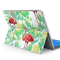 Surface pro6 pro2017 pro4 専用スキンシール サーフェス ノートブック ノートパソコン カバー ケース フィルム ステッカー アクセサリー 保護 フラミンゴ アニマル 動物 014017