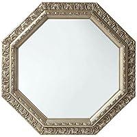 鏡 壁掛け 八角形 アンティーク調 51.5cm 飛散防止加工 卓上 かがみ ミラー シャンパンゴールド