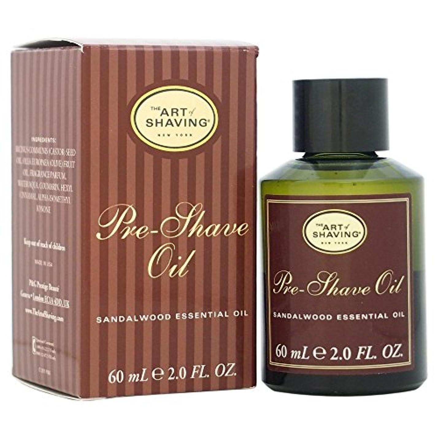 鳥世紀船尾The Art Of Shaving Pre-Shave Oil With Sandalwood Essential Oil (並行輸入品) [並行輸入品]