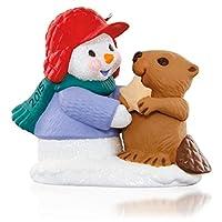 Hallmark Snow Buddies Snowman and Beaver Keepsake Ornament by Hallmark