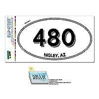 480 - Higley, THE - アリゾナ州 - 楕円形市外局番ステッカー