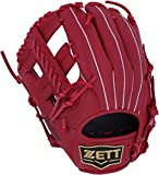 ZETT(ゼット) 野球 軟式 デュアルキャッチ グラブ (グローブ) 新軟式ボール対応 オールラウンド用 左投げ用 レッド(6400) BRGB34930