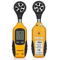 風速計 デジタル 防水 高精度 小型 風力計 温度計搭載 温度計 風速計測 風量計 風 テスター ポケットアネモメーター 簡易操作 ミニ風速計 (Mookis AM100501)
