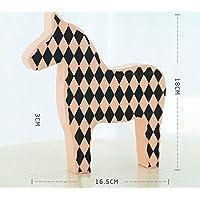 幼児期のゲーム アートパターン木製の馬の装飾レストラン装飾装飾(ピンク、L)