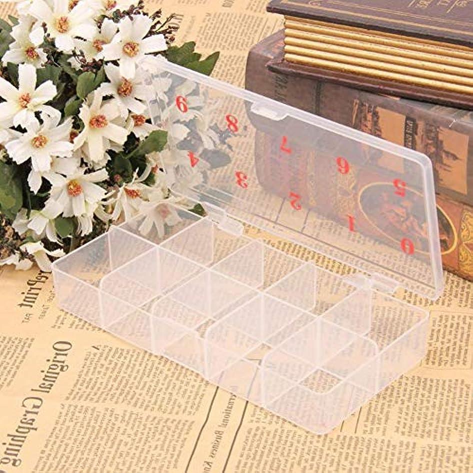 形手書きキャメルslQinjiansavネイルアート&ツール収納コンテナ10グリッド番号プラスチックフェイクネイルチップ収納ケースボックスコンテナオーガナイザー