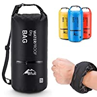 (40L, Black) - BFULL Waterproof Dry Bag 10L/20L [Lightweight Compact] Roll Top Water Proof Backpack 2 Exterior Zip Pocket Kayaking, Boating, Duffle, Camping, Floating, Rafting, Fishing